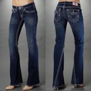 True Religion flare dark wash jeans
